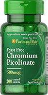 Ultra Chromium Picolinate 500 mcg Yeast Free
