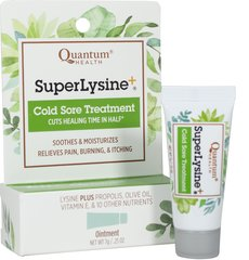 Super Lysine + Ointment <p><strong>From the Manufacturer's Label: </strong></p><p>For sensitive skin!  Lysine with 14 healing herbs and vitamins.  Petroleum Free!</p><p>Manufactured by Quantum® Health.</p> 0.25 oz Ointment  $4.49