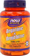 Arginine & Ornithine 500 mg / 250 mg