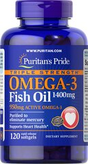 Triple Strength Omega-3 Fish Oil 1360 mg (950 mg Active Omega-3)