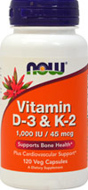 Vitamin D-3 and K2 1,000 IU/45 mcg