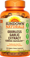 Sundown Naturals Odorless Garlic Extract 1000 mg Equivalent**