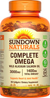 Sundown Naturals Complete Omega with Alaskan Salmon Oil