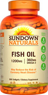 Sundown Naturals Fish Oil 1200 mg Omega-3 360 mg