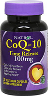 CoQ-10 100 mg Timed Release <p><b>From the Manufacturer's Label:</b></p><p>Co Q-10 is a natural antioxidant for cells to work efficiently in the heart and throughout the body.**</p><p>Co Q-10 levels in the human body decrease with age</p><p>Co Q-10 is complementary with statin drugs and as such can be used as part of a daily regimen.**<p>Manufactured by Natrol, Inc.</p>  30 Vegi Caps 100 mg $11.86