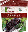 100% Certified Organic Dried Raisins