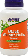 Black Walnut Hulls 500 mg <p><strong>From the Manufacturer's Label: </strong></p>Black Walnut Hulls come from the immature fruit of the Black Walnut Tree (Juglans nigra) References to the use of Black Walnut Hulls dates back to the Ancient Greeks and Romans, and they have been used by many cultures throughout history as a n herbal tonic. The Black Walnut Tree is indigenous to the Middle East, but is currently grown in the U.S., Canada and Europe as well. 100 Capsules