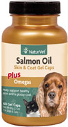 Salmon Oil Gel Caps for Dogs & Cats