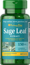 Sage Leaf Standardized Extract 150 mg