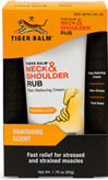 Tiger Balm® Neck & Shoulder Rub <p><b>From the Manufacturer's Label:</b></p>  <p>Pain Relieving Cream</p> <p>Fast Relief</p> <p>Non Greasy</p> <p>Soothing Fragrance</p> <p>A Massage on the go!</p>  <p>Hours at a desk or in front of a computer got you stiff?  Let Tiger Balm Neck & Should Rub massage those muscles.</p>  <p>Manufactured by Tiger Balm®.</p>  1.76 oz Cr