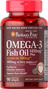 Omega-3 Fish Oil 1450 mg Plus Salmon Oil 500 mg