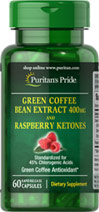 Green Coffee Bean 400 mg and Raspberry Ketone 100 mg