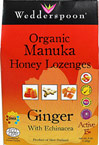 Organic Manuka Honey Lozenges Ginger with Echinacea Active 15+
