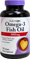 Omega-3 Fish Oil Lemon Flavor 1000 mg