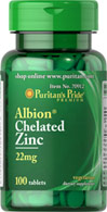 Zinc Glycinate 22 mg Albion® Chelate