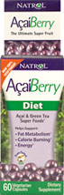 Acai Berry Diet <p>From the Manufacturer's Label:</p><p>Acai and Green Tea Super Foods</p><p>Manufactured by Natrol.</p><p></p><p></p> 60 Capsules  $8.99