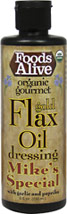 Organic Gold Flax Oil Dressing - Mike's Special
