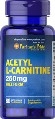 Acetyl L-Carnitine 250 mg <p>Acetyl L-Carnitine plays a role in the metabolism of food to energy.** Studies indicate that the combination of Alpha Lipoic Acid and Acetyl L-Carnitine helps promote metabolic functioning to fight against free radicals and oxidative stress.**</p>  60 Capsules 250 mg $9.99