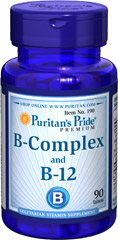 Vitamin B-Complex and Vitamin B-12  90 Tablets  $13.99