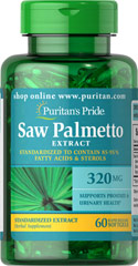 Saw Palmetto Standardized Extract 320 mg <p>Men the world over are discovering the beneficial properties of Saw Palmetto. Saw Palmetto contains phytochemicals, which support prostate health and urinary health.**</p><p>Our Saw Palmetto formula is fully assayed and standardized to ensure that each softgel contains 85-95% fatty acids and active sterols, which guarantees bioactivity.**</p> 60 Softgels 320 mg $13.59