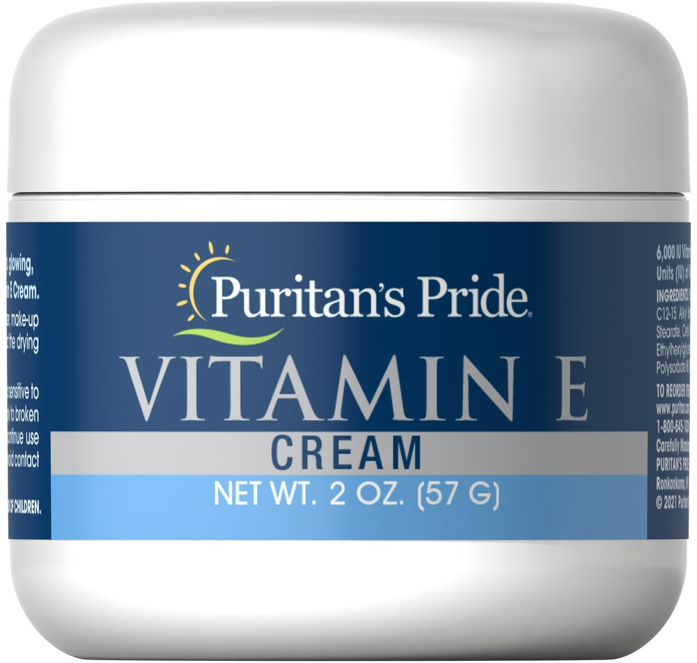 Vitamin E Cream 6,000 IU <p>Nourish Dry Skin</p><p>Fragrance Free</p><p>Contains 6000 IU of Vitamin E per Jar</p><p>This marvelous exclusive formula pampers you with a wealth of natural moisturizers and emollients... and leaves absolutely no oily film on the skin.</p> 2 oz Cream 6000 IU $6.79