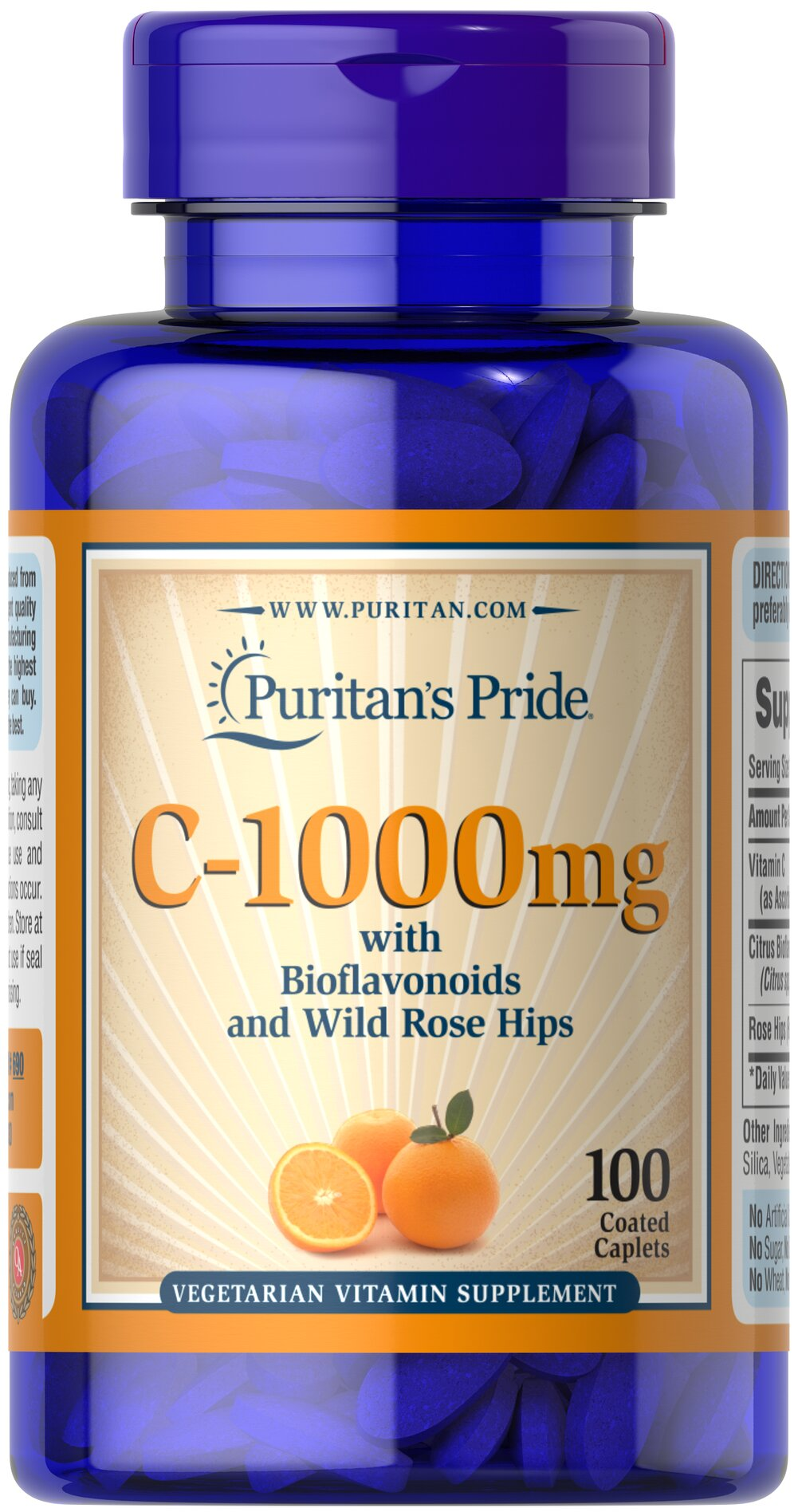 Vitamin C-1000 mg with Bioflavonoids & Rose Hips  100 Caplets 1000 mg $9.34