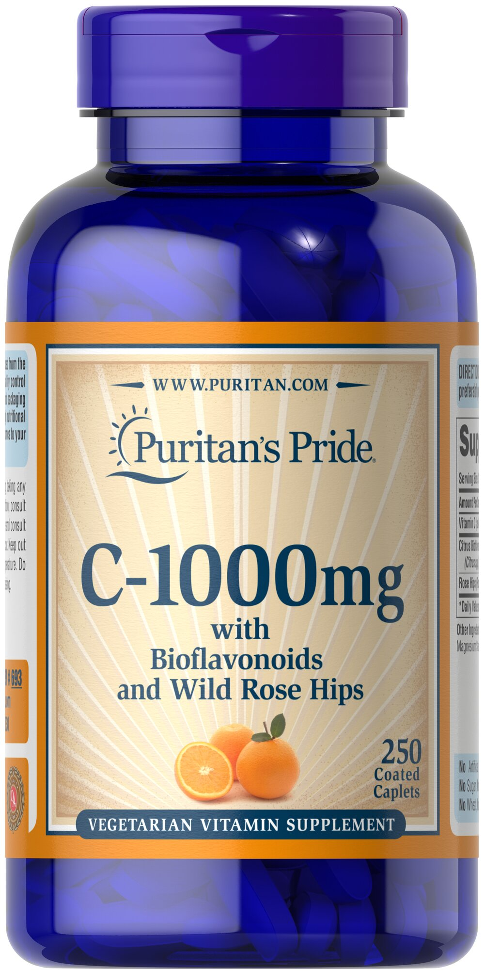 Vitamin C-1000 mg with Bioflavonoids & Rose Hips <p>Vitamin C  is essential to many functions in the body and is one of the leading vitamins for immune support and helps fight cell-damaging free radicals.**  Our product also includes Rose Hips, which help the body absorb and utilize Vitamin C.**</p><p>Offers superior antioxidant support.**</p><p>Supports healthy immune function and promotes well-being.**</p> 250 Caplets 1000 mg $19.99