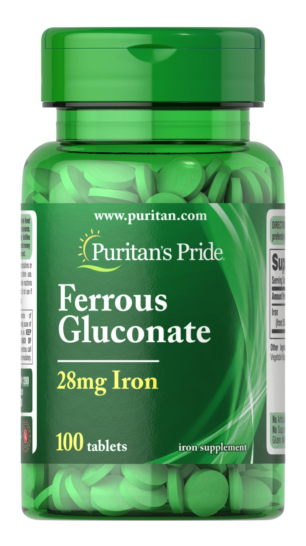 Ferrous Gluconate (28 mg Iron) <p>Supports Energy Utilization**</p><p>Iron is a necessary component of hemoglobin, the oxygen carrier in the blood.** Iron is also important for energy utilization.**</p> 100 Tablets 28 mg $7.29
