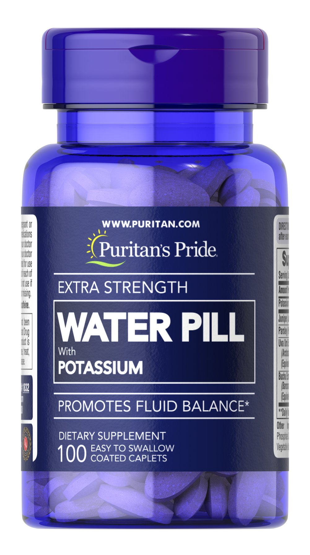 Extra Strength Water Pill™ <p>Promotes Fluid Balance**</p><p>This product contains the essential mineral Potassium, which works with sodium to regulate the body's water balance.** EXTRA STRENGTH WATER PILL™ Tablets also contain Uva Ursi, Buchu, Juniper and Parsley.</p> 100 Caplets  $11.99