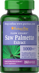 Saw Palmetto 1000 mg <p>Saw Palmetto is an extract derived from the berry of the Saw Palmetto tree and is one of the leading traditional herbs for men's health.**Saw Palmetto has been traditionally used to support prostate and urinary health in men.** Adult men can take one softgel once or twice daily.</p><p></p> 180 Softgels 1000 mg $33.99