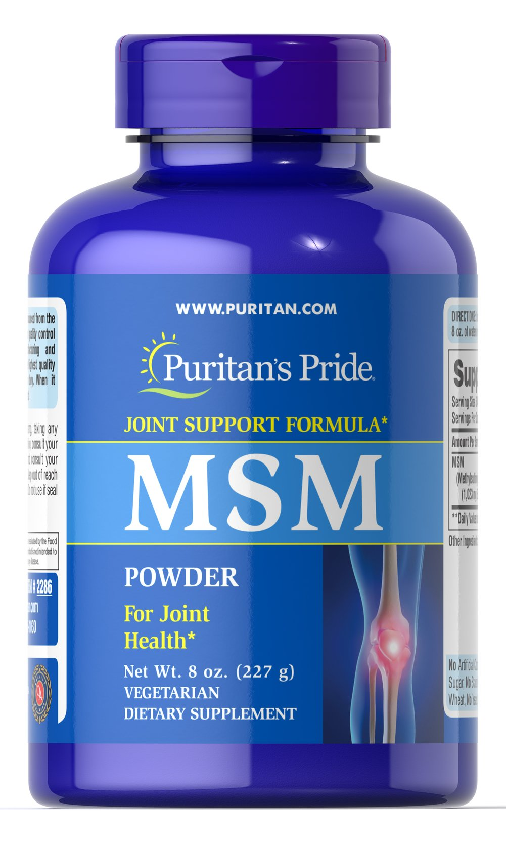 MSM Powder  8 oz. Powder  $18.99
