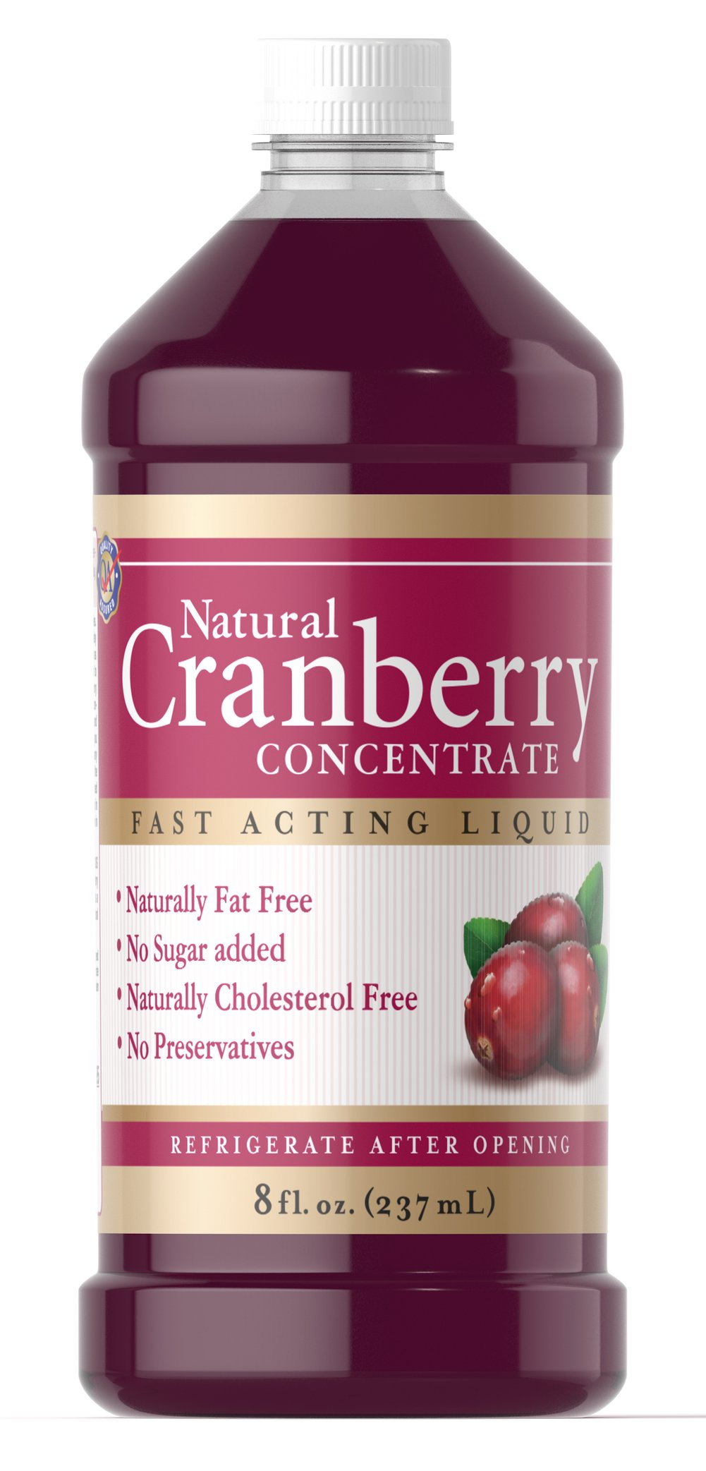 Natural Cranberry Concentrate <p>Our Natural Cranberry Concentrate Liquid is a liquid formula that is naturally free from fat, added sugar, cholesterol and preservatives.  Cranberry Concentrate Liquid gives you 100% natural cranberry concentrate without unnecessary additives or a cocktail taste.  In addition, there's the extra nutritional benefit of proanthocyanidins (condensed tannins) which have been identified in the cranberry fruit.</p>  8 oz Liquid  $16.99
