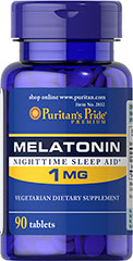 Melatonin 1 mg <p>Sometimes it's hard to unwind after a long day. That's when it's time for Melatonin, a hormone naturally produced in the body that is closely involved in the natural sleep cycle.** It's a terrific choice if you experience occasional sleeplessness or jet lag, or if you want to improve your quality of rest.**</p> 90 Tablets 1 mg $3.99