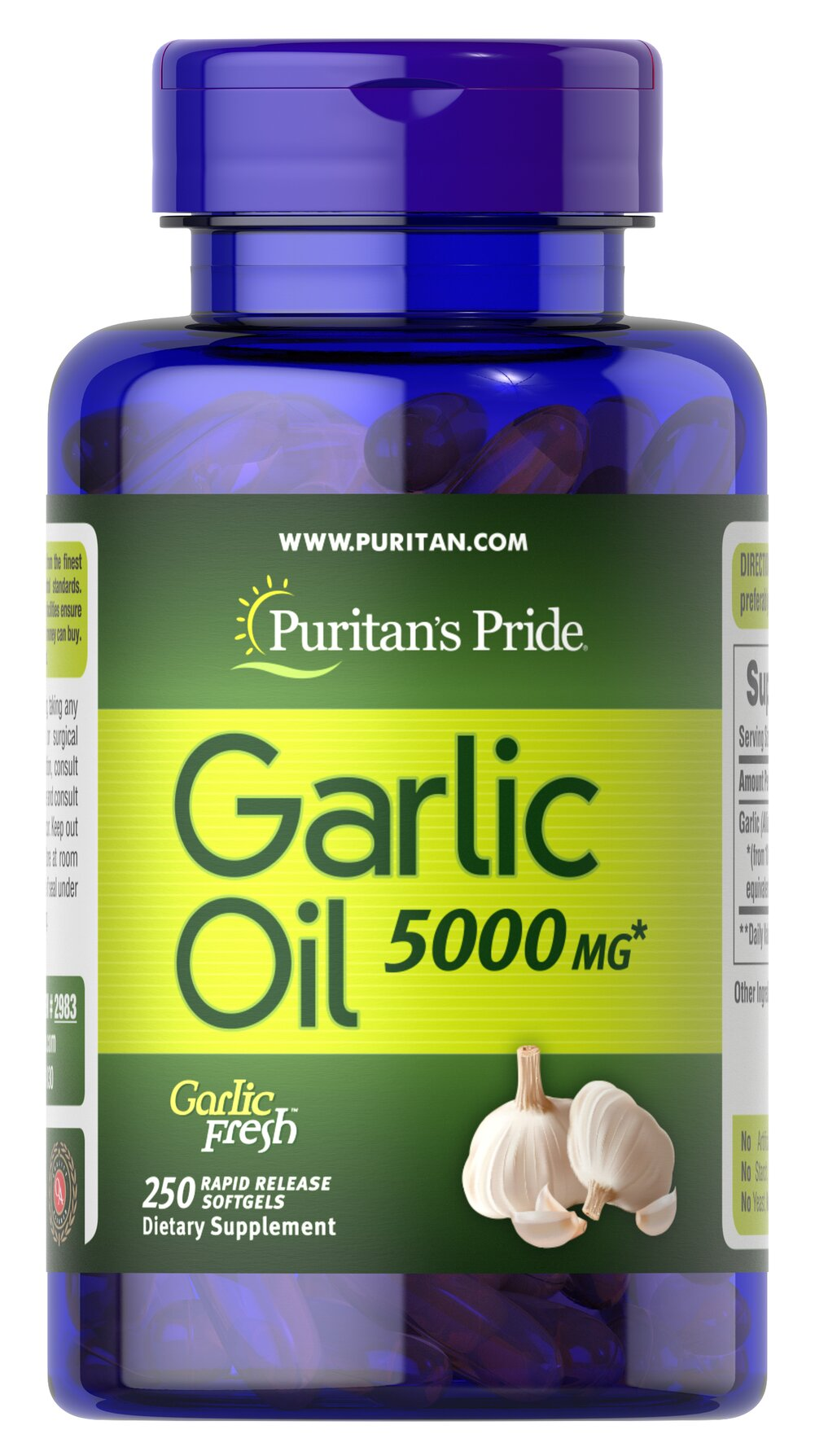 Garlic Oil 5000 mg  250 Rapid Release Softgels 5000 mg $23.99