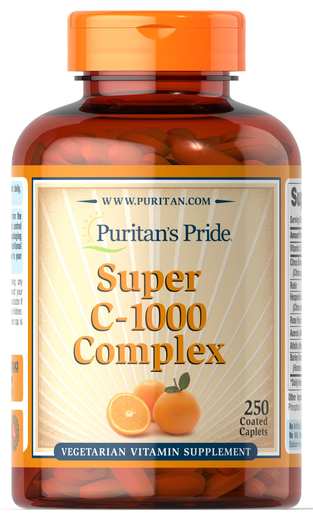 C-1000 Complex™ <p>Vitamin C  is essential to many functions in the body and is one of the leading vitamins for immune support.** Our C-complex includes potent Vitamin C as Ascorbic Acid. We also include Citrus Bioflavonoids, Rose Hips, Rutin, and Acerola.**</p><p>Offers superior antioxidant support.**</p><p>Supports healthy immune function and promotes well-being.**</p> 250 Coated Caplets 1000 mg $33.99