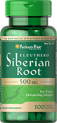 Eleuthero Siberian Root 500mg <p>Supports Physical Performance**</p><p>Eleuthero (Siberian Root) contains complex polysaccharides - sugars that help give Eleuthero (Siberian Root) its beneficial qualities. Eleuthero is an adaptogen known for its ability to promote physical performance.**</p> 100 Tablets 500 mg $9.99
