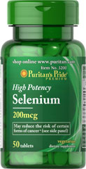 Selenium 200 mcg <p>Selenium is an essential trace mineral that supports the immune system.** </p><p>Adults can take one tablet daily with a meal.</p>  Mineral Products 50 Tablets 200 mcg $4.99