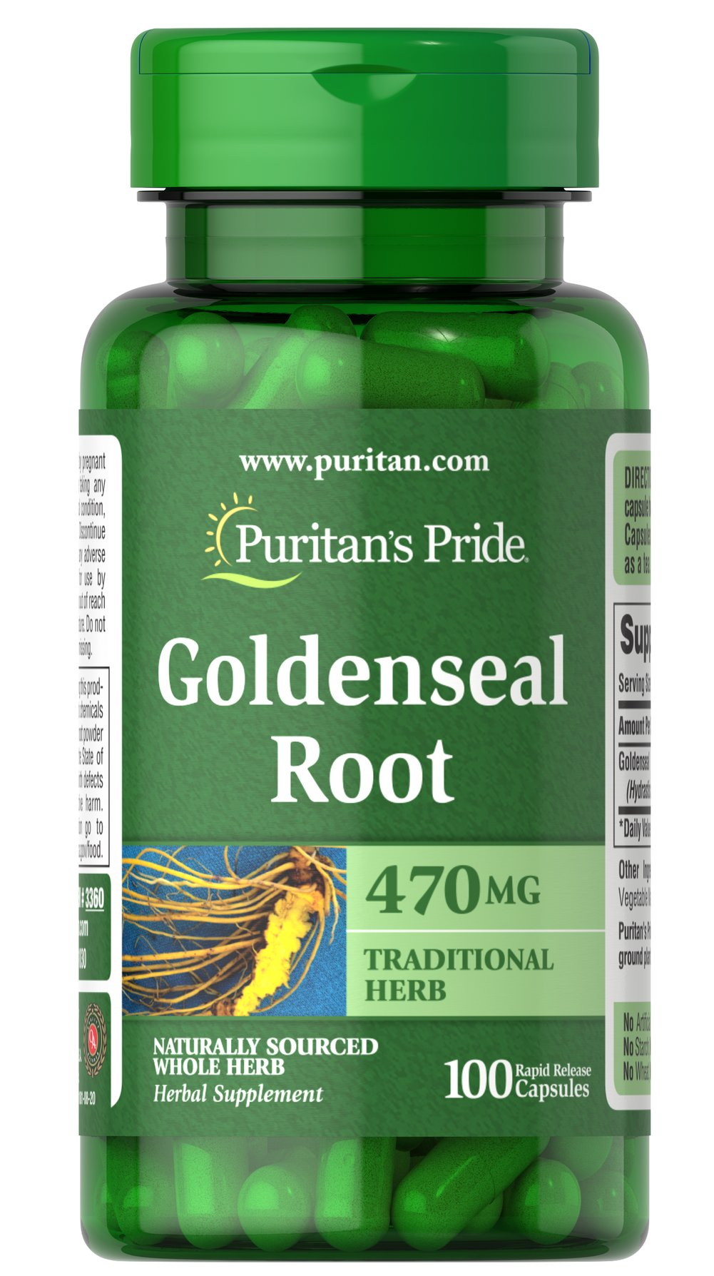 Goldenseal Root 470 mg  100 Capsules 470 mg $36.99