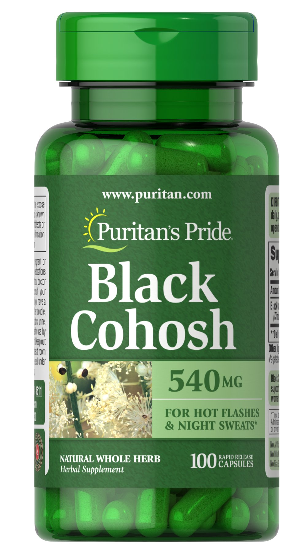 Black Cohosh 540 mg  100 Capsules 540 mg $16.12