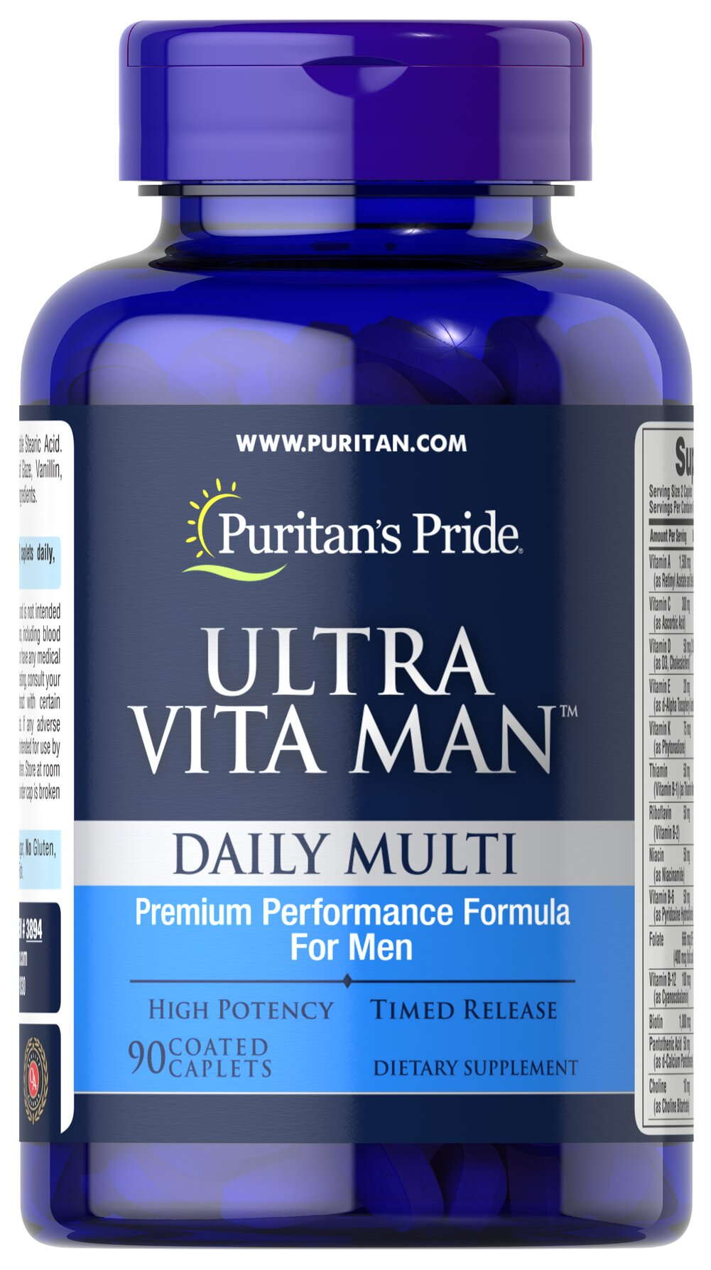 Ultra Vita Man™ Time Release <p>This time release multivitamin  delivers vitamins and minerals shown to be beneficial to men's overall wellness. From antioxidant and immune support to cardiovascular health, Ultra Vita Man is ideal for today's on-the-go men!**</p> 90 Caplets  $27.99