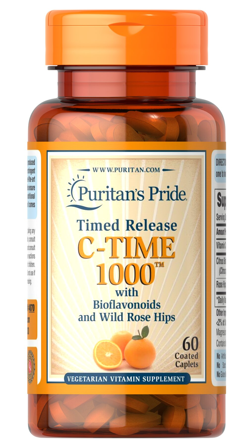 Vitamin C-1000 mg with Rose Hips Timed Release  60 Caplets 1000 mg $9.99