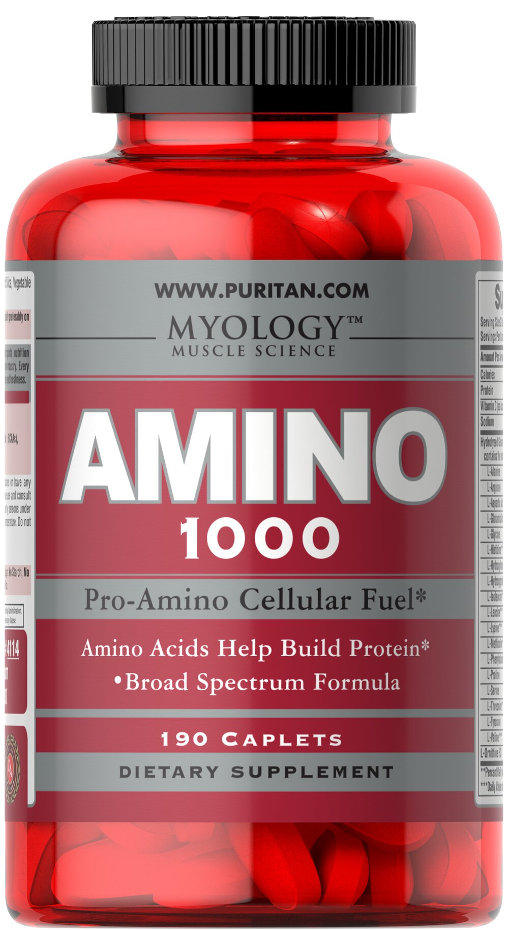 "Amino 1000 <p>This Amino Acid formula contains all three Branch Chained Amino Acids (BCAAs), as well as other essential Aminos.  Amino Acids provide crucial building blocks for protein which are the main components of muscle tissue.** Product includes: <span style=""font-size:11.0pt;font-family:'Calibri','sans-serif';"">424mg of Glycine, 30mg of Ornithine, 140mg of Arginine and 60mg of Lysine</span><br /></p> 190 Caplets 1000 mg $19.99"