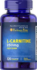L-Carnitine 250 mg <p>Carnitine is a nitrogen-containing compound that assists in fat metabolism.** Carnitine plays an essential role in making fatty acids available for muscle tissue.</p> 120 Capsules 250 mg $20.59