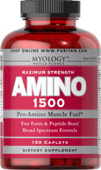 Amino 1500 <p>Specially formulated and scientifically balanced for bodybuilders, power lifters and professional athletes.  This formula contains a balanced blend of free form and peptide bond amino acids.</p> 150 Caplets 1500 mg $24.99