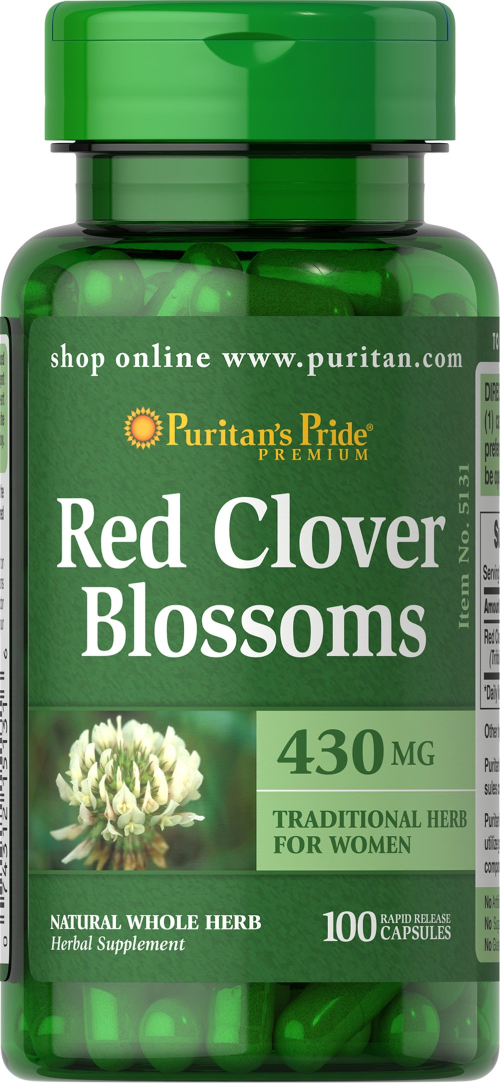Red Clover Blossoms 430 mg  100 Capsules 430 mg $11.99