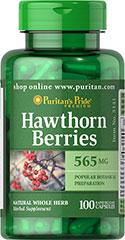 Hawthorn Berries 565 mg  100 Capsules 565 mg $7.99