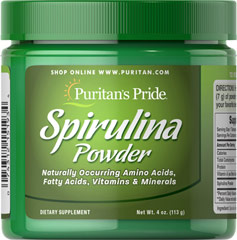 Spirulina Powder  4 oz Powder  $17.99