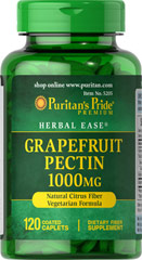 Grapefruit Pectin 1000 mg <p>Helps Support a Feeling of Fullness**</p><p>Grapefruit Pectin is a naturally rich source of pectin, a water soluble dietary fiber found in fruits. Pectin contributes to daily fiber intake and helps promote a feeling of fullness when taken with fiber containing meals, which is beneficial for those following healthy eating plans.**</p> 120 Caplets 1000 mg $19.99