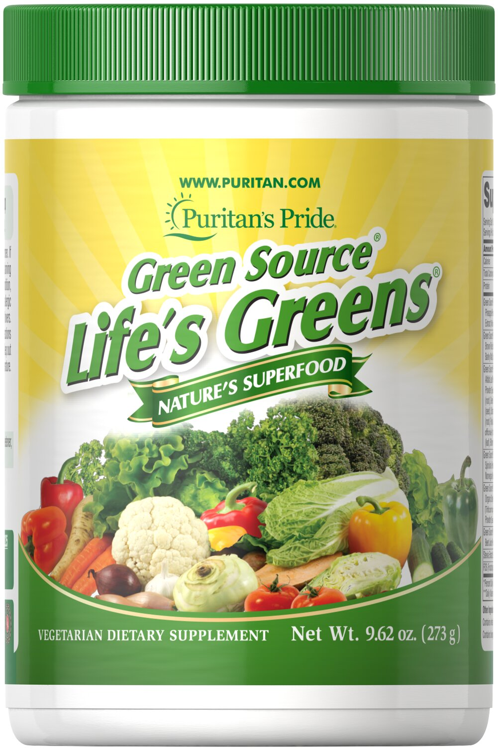Life's Greens® with Advanced Probiotic Formula <p>With over 35 active ingredients, Life's Greens® powder provides important green factors to give you the optimal edge you need to energize your day.**</p><p></p>Free Of: Yeast, Preservatives, Artificial Color, Artificial Flavor<p></p><p>Oxyphyte® is a registered trademark of RFI Blending LLC.</p> 9.62 oz Powder  $39.99