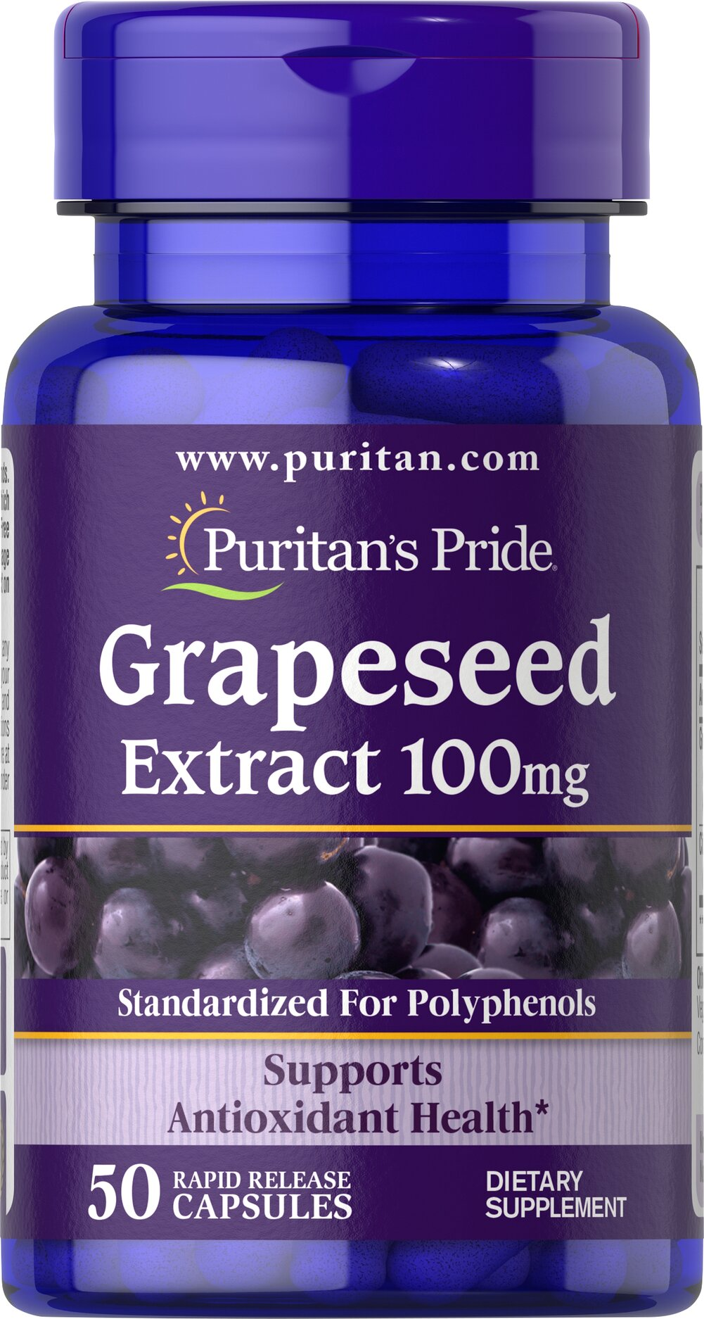 Grapeseed Extract 100 mg  50 Capsules 100 mg $9.99